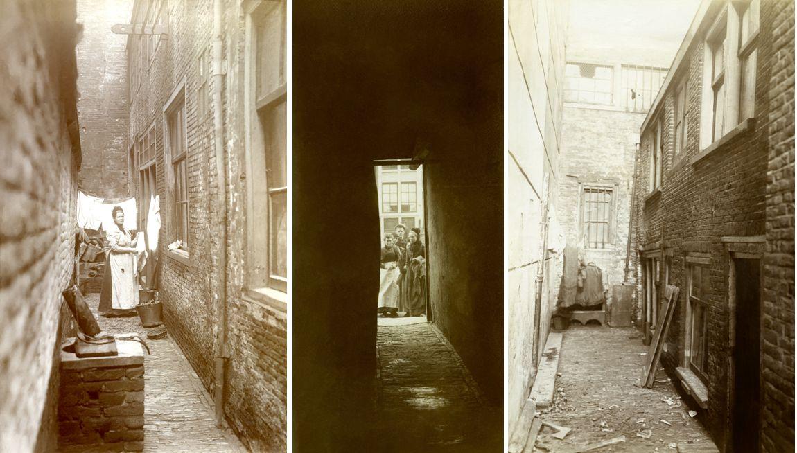 fotomontage gangen - verleden